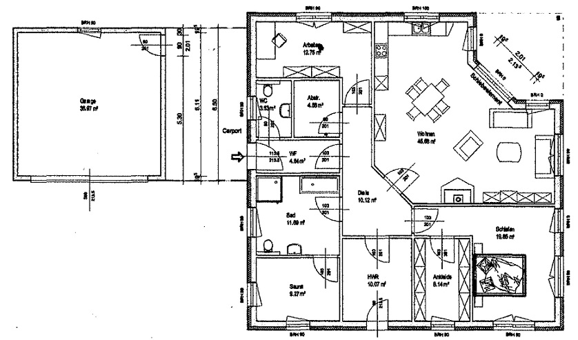 Bungalow 140 m²